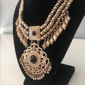 Exotic Pendant Statement Necklace